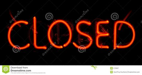 lights when closed neon closed sign stock image image of light closed
