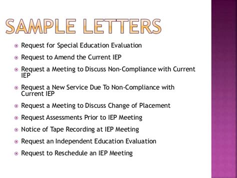 Iep Evaluation Request Letter the basics of the iep process