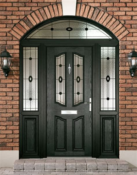 Black Upvc Front Doors Entrance Doors O Leary Home Improvement Services