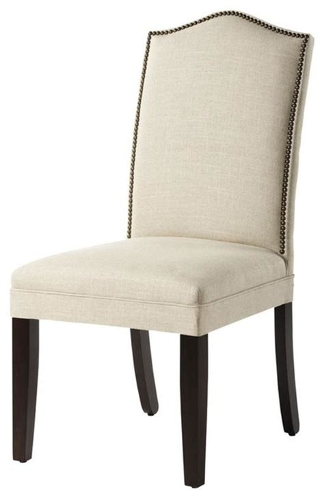 Nailhead Trim Chair by Custom Camel Back Parsons Chair With Nailhead Trim Traditional Office Chairs