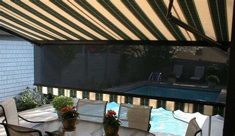retractable awnings awnings shade  shutter systems