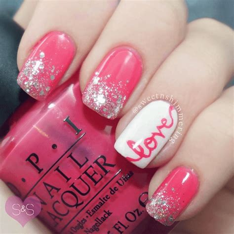 crazy cute valentines day nail art ideas