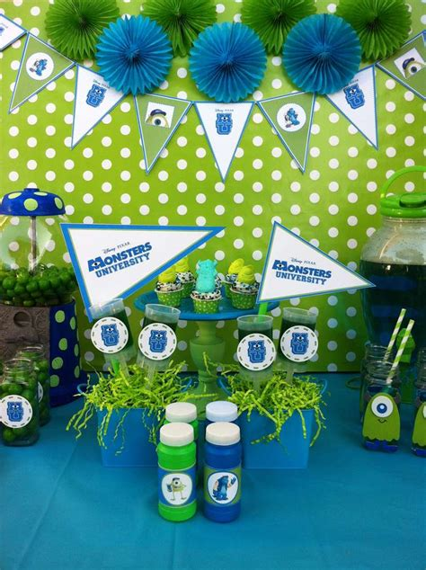 party themes university monsters inc movie theme party ideas photo 1 of 13