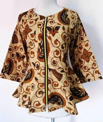 Blouse Peplum Resleting blouse batik peplum shireen sogan bledak daniyanti