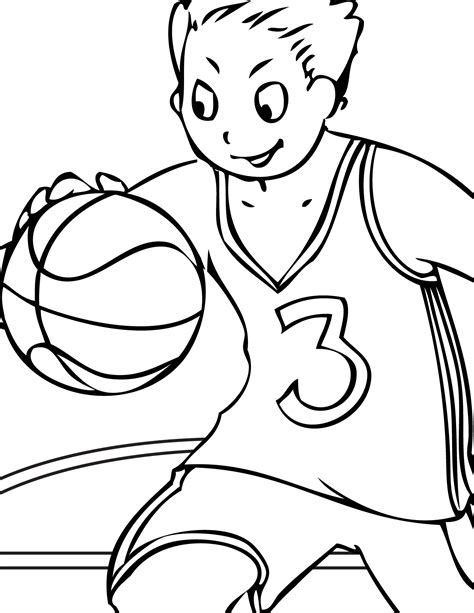 coloring pages to color basketball player free coloring page sports