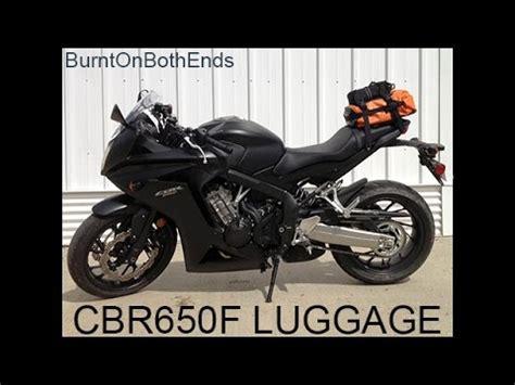 cbr650f luggage youtube