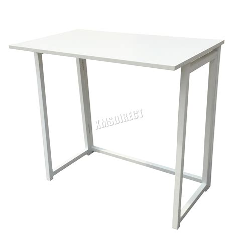 Folding Office Desk Foxhunter Foldable Computer Desk Folding Laptop Pc Table Home Office Study Cd03 Ebay