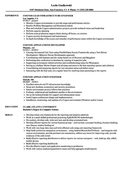cognos bi sle resumes cognos sle resume talktomartyb