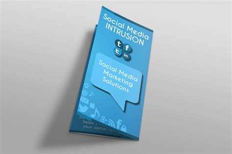 social media tri fold brochure template on behance