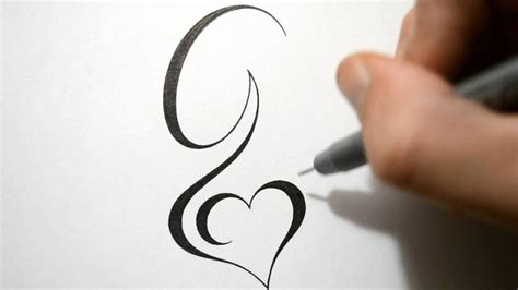 g tattoo designing simple initial g design calligraphy style