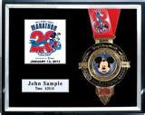 10 x 10 matted shadow box 2013 walt disney world marathon half marathon plaques
