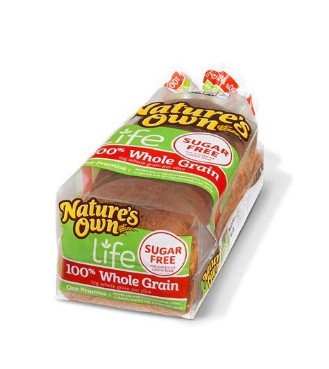 whole grain bread 100 100 whole grain sugar free nature s own bread