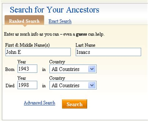 Ancestry Social Security Records Search