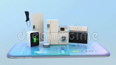 smart appliances on a smart phone stock footage