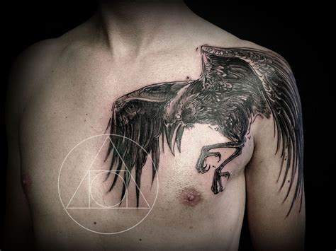 raven chest tattoo the world s catalog of ideas