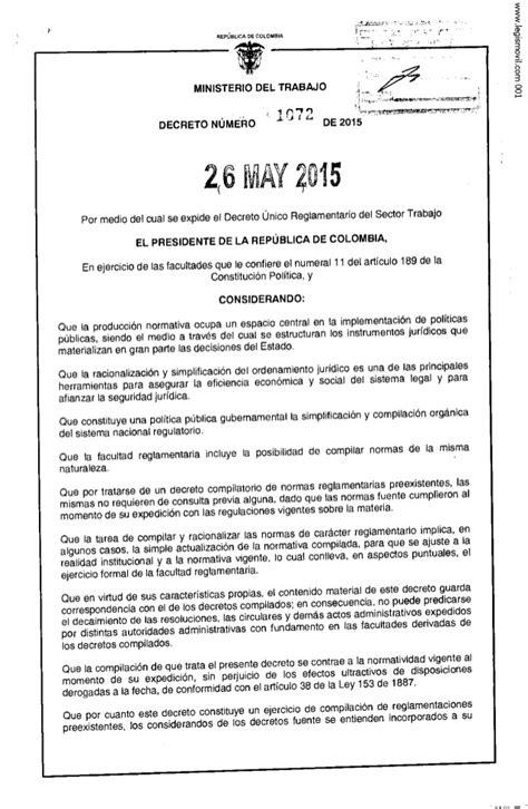 decreto 1072 de 2015 pdf decreto 1072 de 26 05 2015 autos post