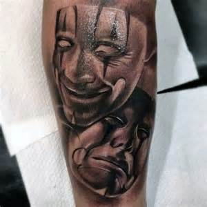 60 drama mask tattoo designs for men theatre ink ideas