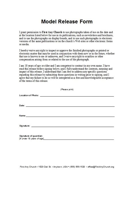 model release forms  templates template lab