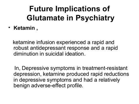Ketamine For Rapid Detox by Glutamate And Psychiatry