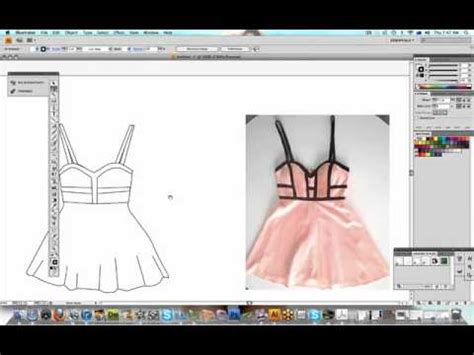 How To Design Clothes Using Illustrator | how to illustrate your fashion designs part 1 youtube