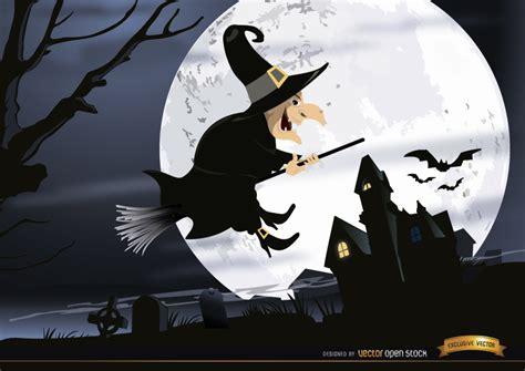 imagenes de brujas volando halloween bruja de halloween del cementerio volar noche wallpaper