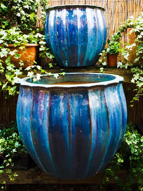 planters interesting large ceramic garden planters glazed