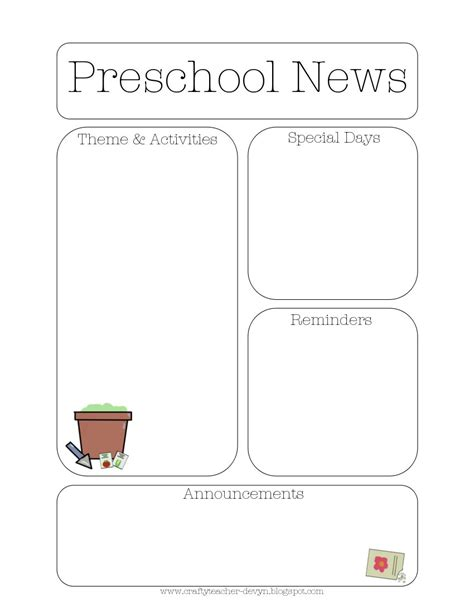 preschool newsletters templates newsletter templates