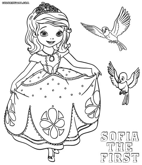 elegant sofia the first coloring pages to print with sofia