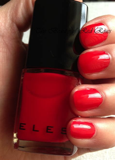 beauty  red roses  eles masquerade nail enamel collection