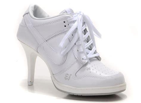high heel nike dunk nike dunk high heels unlucky 13 all white 3231521