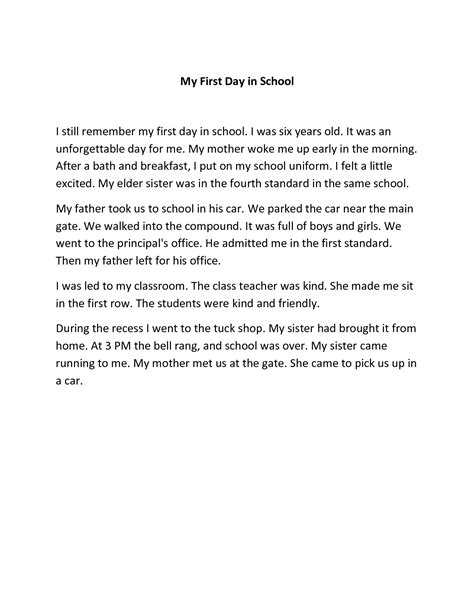 My Essays by Write An Essay On Your Day In School Original Content