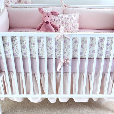 lilac crib bedding lilac arpege crib bedding set by elizabeth allen atelier
