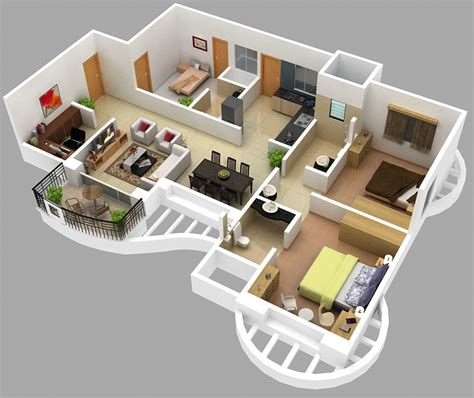 2 bhk plan images
