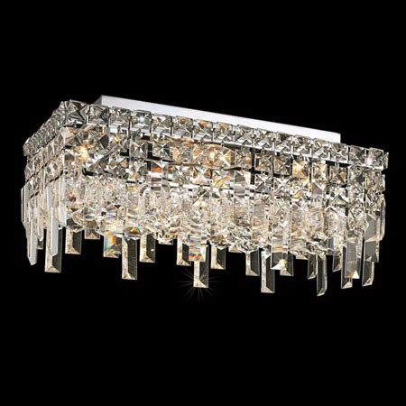 Elegant Lighting 2035F16C/EC Crystal Maxime Rectangular
