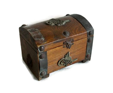 treasure chest ottoman reserved for h wooden pirate treasure chest metal tughra