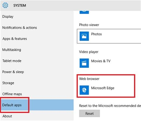 how to change default apps and settings in windows 10 how to set internet explorer as default browser on windows 10
