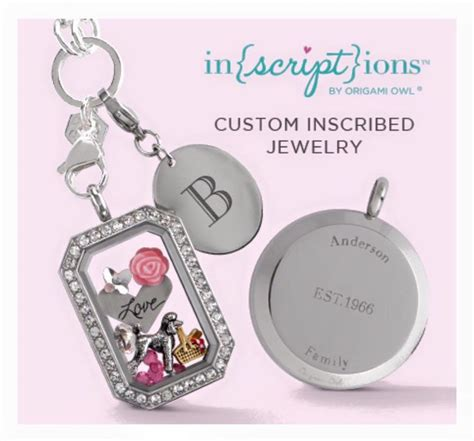 Origami Custom Jewelry - 31 best inscriptions origami owl images on