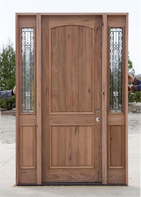 Exterior Doors With Sidelites Teak Exterior Wood Doors With Sidelites