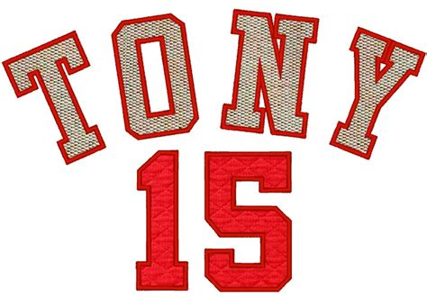 embroidery design number player numbers font varsity collegiate machine