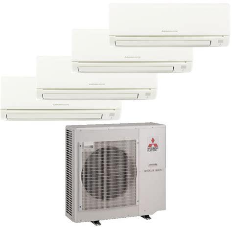 mitsubishi mr slim 4 zone heat with 4 9k btu indoor