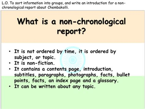 Factual Report Template Ks2 Non Chronological Reports Linked To Chembakolli By Miss N