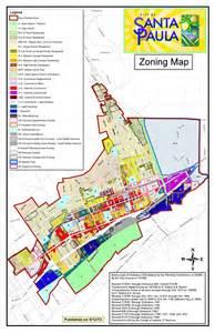 california zoning map santa paula california planning zoning
