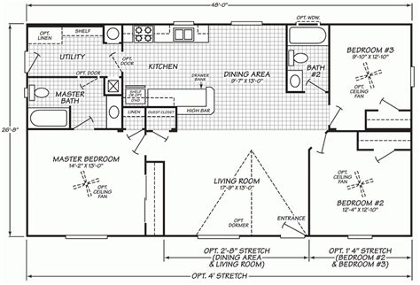 1998 fleetwood mobile home floor plans fresh wide