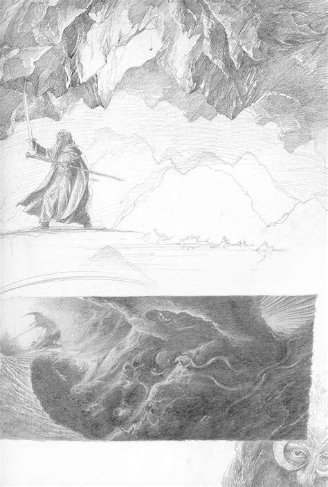 Gandalf and the Balrog by Alan Lee   Alan lee, Warcraft