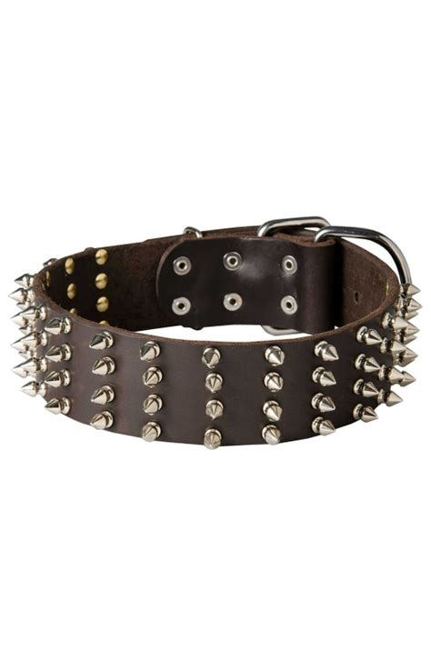 large breed collars wide leather spiked collar for medium and large breeds mill store