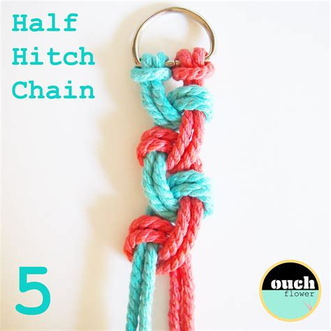 Half Hitch Macrame - ouch flower knot school knot 7