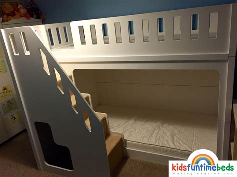 Childrens Bunk Beds With Stairs Uk Bunk Bed With Stairs Uk Bunk Beds With Stairs Decofurnish Cloudseller Staircase Bunk Bed With