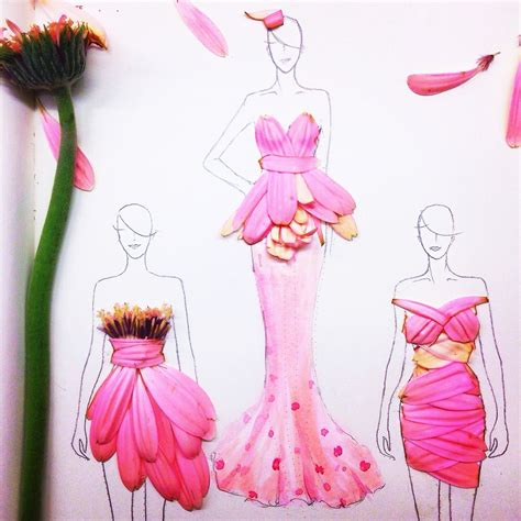 gorgeous dress designs out of real flowers