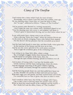 Clancy Of The Overflow Essay by 1000 Images About Edu Poetry On Poetry Poetry Lessons And Gcse Literature