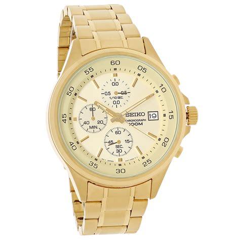 Seiko Sks482 seiko quartz mens chagne chronograph gold tone
